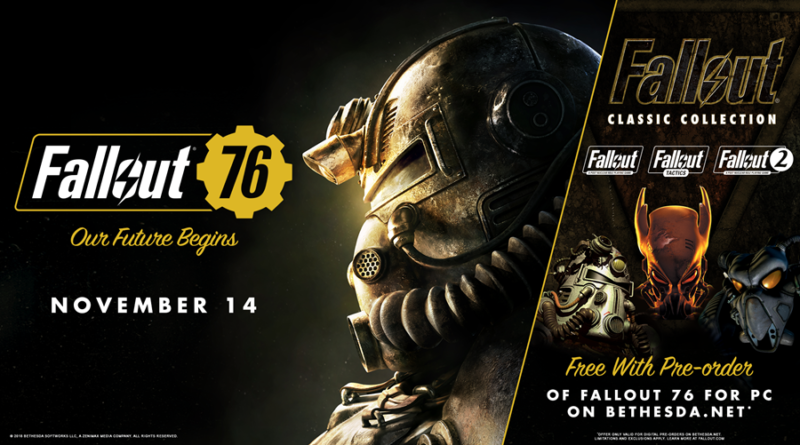 Fallout 76 on PC Pre Order Complimentary Gift