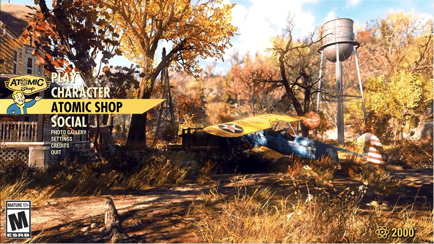 Fallout 76 Entering the Atomic Shop